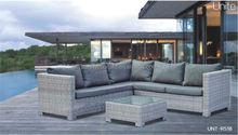 100% hand-woven aluminum outdoor rattan furniture sofa set