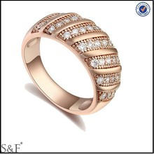 2014 Gold Wedding Ring , Diamond 925 Sterling Silver Ring