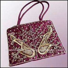 Gold Color Sequence Beaded Embroidery Bag