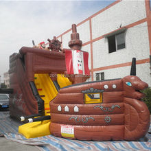 Low price top sell inflatables tree dry and water slide