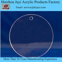 china factory wholesale custom acrylic lucite round clear acrylic keychain