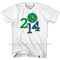 2014 brazil world cup t shirts for silk screen printing