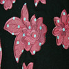 2015 Beautiful flower 100 polyester printed embroidery fabric