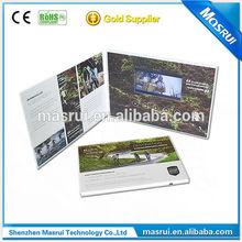 """video lcd tarjeta de felicitación/personalizado de impresión 2.4-10.1"""" tarjeta de video lcd/de vídeo tarjeta de cumpleaños"""