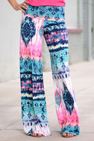 Women's colorful long jersey pants palazzo pants