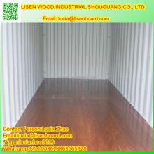 High Density Phenolic Glue , Apitong/Keruing/Gurjan Faced 28mm shipping container flooring plywood