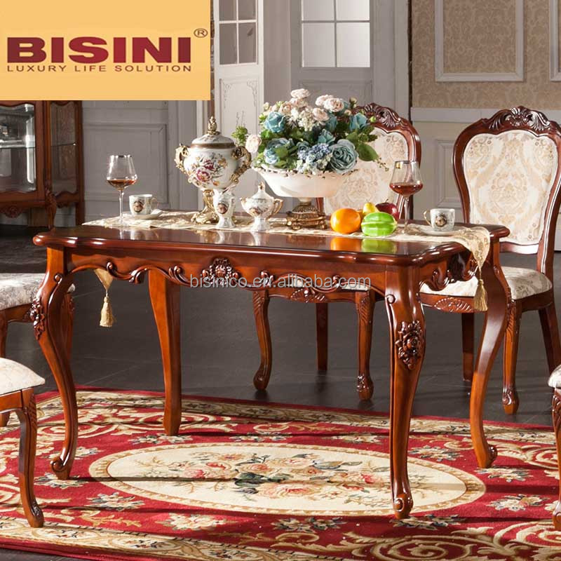 bisini antique dining table solid wood rectangle pedestal