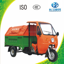 China widely used 3 wheel motor car for garbage with closed body