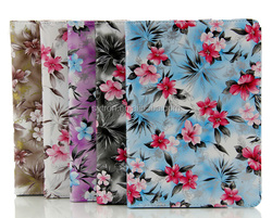 Customized Printing Colorful 360 Rotatable Tablet Cover For Ipad Air 2 Leather Case