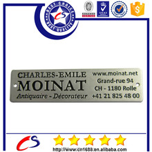 Customized aluminum metal plate/logo plate/name plate with your own logo