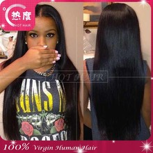 6A Grade Natural Hair Line Glueless Brazilian Human Hair Full Lace Wig Brazilian Lace Front Wig Silky Straight Human Hair Wig