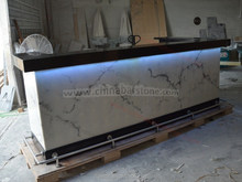waterproof polygon artificial marble stone bar counter design