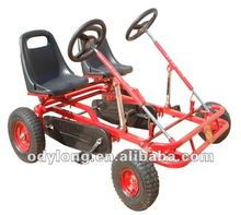 dual seat children pedal go kart be used by two kids
