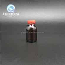 Antibiotics Amber Glass Moulded injection bottle with Rubber
