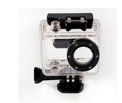 Waterproof Protective Housing Case Cover Side Open W/ Lens For Gopro HD Hero 1 2