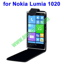New Arrival Fashionable Black Vertical Flip Leather Case for Nokia Lumia 1020