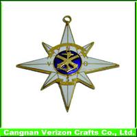 Promotional custom engraved iron enamel navy blank button name security military army emblem metal lapel pin