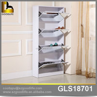 Goodlife design 4 drawers modern shoe cabinet with mirror, shoe cabinet drawing