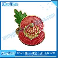 Duke of lancaster gold plated soft enamel military pin badge