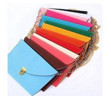2015 New Fashion Women's Envelope Synthetic Clutch Bag 12 Colors Wholesale Leather Clutch Bag