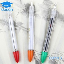 Plastic promotional office use pull paper pen