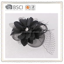 Bridal make hair bow clip for wedding decoration , hair clips for teenagers