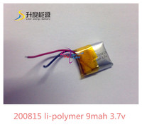 Hot sale,high quality,rechargeable SD200815 li-polymer 9mah 3.7v