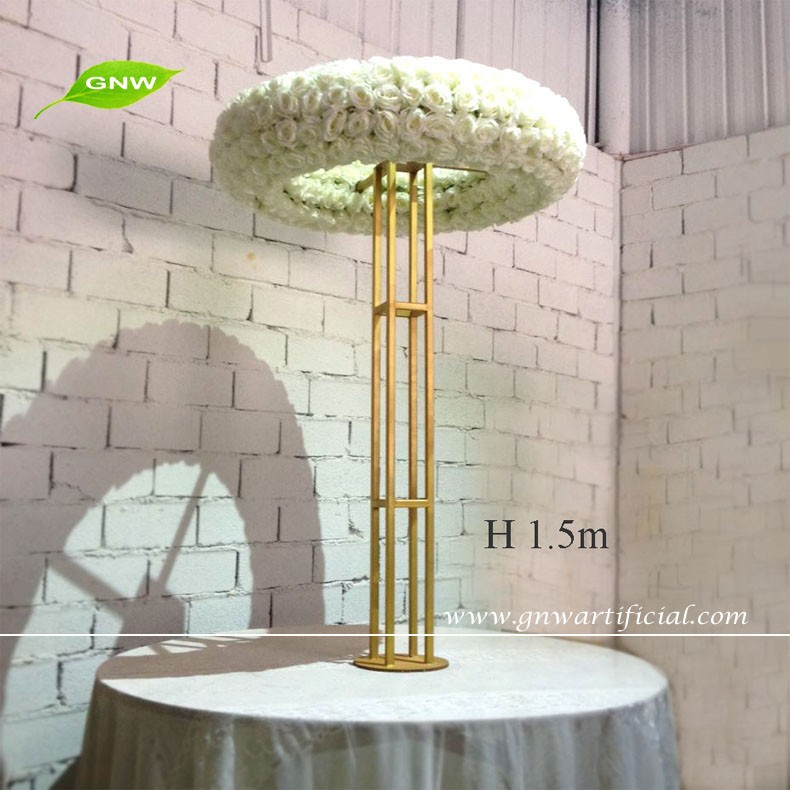Gnw 5ft High Quality Rose Flower Wedding Plastic Crystal