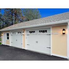 Wood grain lightweight sliding aluminum garage side door