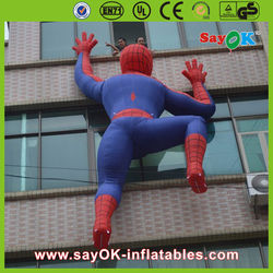 Climing inflatable spiderman adavertising giant inflatable cartoon inflatable spiderman