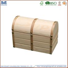Hot sale natural house shaped wood money saving box wholesale