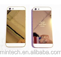 Whosale 24K Gold Back Cover Housing For Iphone 5 For Iphone 5 24K Gold Housing
