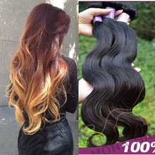 Natural color high quality free sample body wave hair very soft sexy hair blue hair weave color