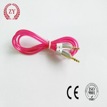 high grade 3.5mm stereo clear cable 1m