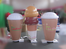 Factory direct sale custom inflatable ice cream cone for Christmas