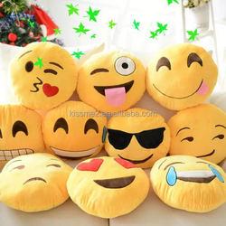 Economic new coming emoji pillow decoration pillow plush