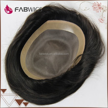 Fabwigs new best sale large in stock fast shipping indian remy human hair toupee / wig for men