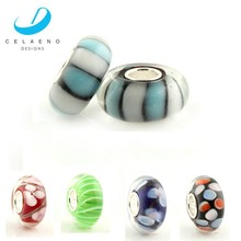 925 Sterling silver Tube Cheap Price In Stock Murano Glass Bead