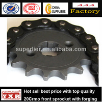 China manufacturer motorcycle spare parts front chain sprocket
