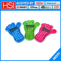 stationery transparent plastic little feet promotion calculator