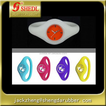 Silicone watch, silicone material, fashion design japanese movement 3atm water resistant