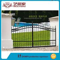 Cheap powder coated wrought iron fence gate, black main gate