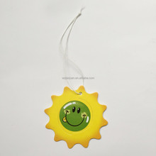 colorful smiling face lovely sun hanging paper car air freshener