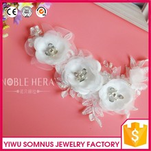 Factory production white lace/beads/rhinestone bridal wedding hair accessories