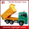Escala 1:20 4 canales de control remoto del camión volquete camiones rc que en china los camiones para la venta