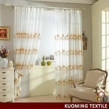 Customized new arrival grommets embroidery curtain