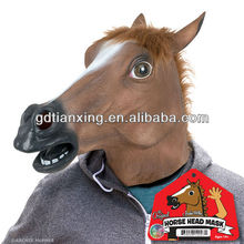 Halloween Costumes Disguises Masks Horses Cowboys Western Horsehead Creepy Animals Equestrian Weird Accoutrements Horsemask