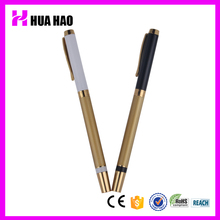 Classic deluxe ball pen in golden parts hotel metal ball pens slim promotional pen with cap