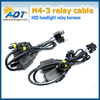 H4 Bi Xenon Dual beams H4-3 (Hi/Lo) 24V Relay Harness Controller cables