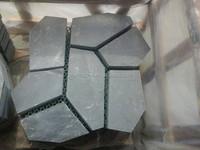 Nature black stone paving Slate rained board for garden decorative compass paving stone/net paste
